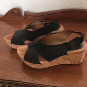 Clarks Artisan Wedge Sandals, size 8.5
